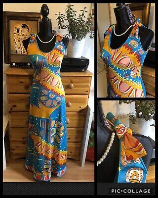 Rare SUSAN SMALL : True Vogue 60/70's Vintage Boho Hippy Maxi Dress : UK 8-10