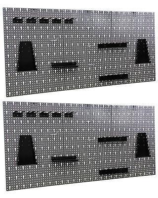 Werkzeugwand Metall Lochwand mit Hakensortiment Werkstattwand  2 Stück !! NEU