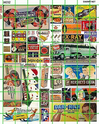 N032 DAVE'S DECALS N SCALE CANDY AUTO GROCERY BILLBOARD & ADVERTISING GUM