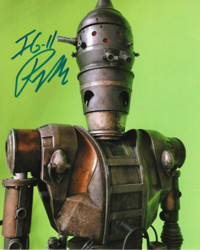 RIO HACKFORD SIGNED STAR WARS THE MANDALORIAN IG-11 8x10 SHOW PHOTO w/COA PROOF