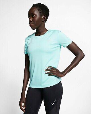 Nike Running Short Sleeve Top (Nike Womens Miler Short-Sleeve Running Top Tropical Twist Active Wear AJ8121-307)