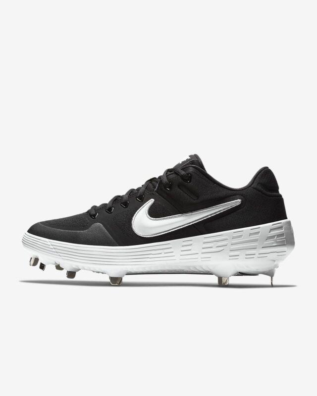 Nike Alpha Huarache Elite 2 Low Metal Baseball Cleats Black AJ6873 001