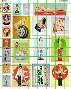 6110 Dave's Decals - Garage Diorama Art 1:18 1:24 1:25 scale Ramos Girls Nude