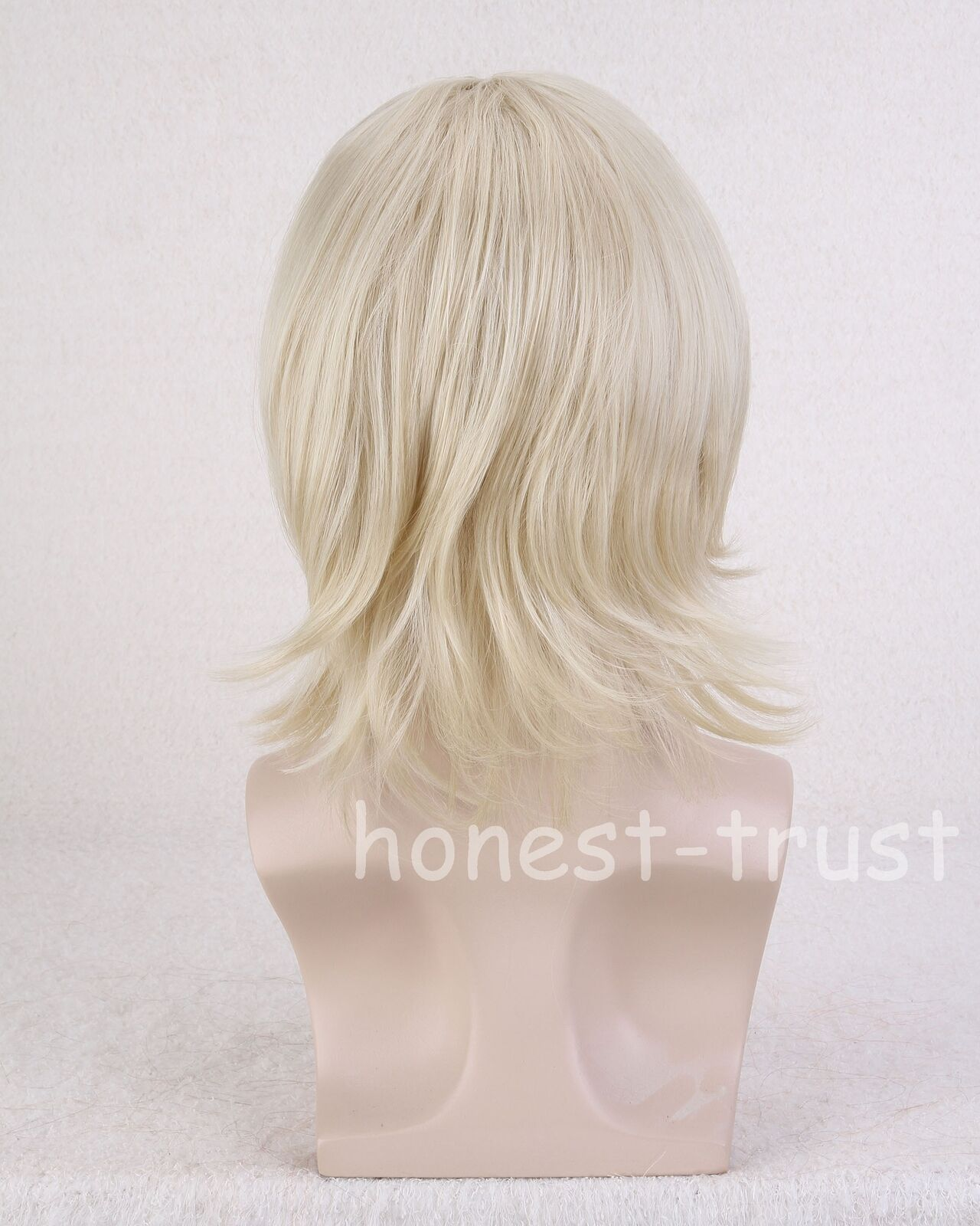 Short Wigs Men's Straight Hair Cut With Bangs Fashion Anime Party Cosplay Blonde 6279580973767 ...