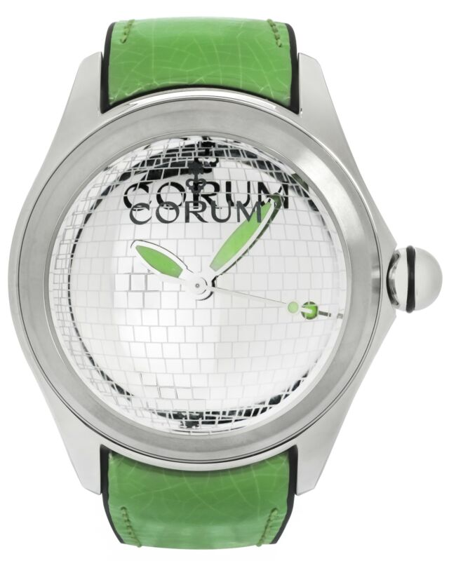 CORUM BUBBLE 47 DISCO BALL STAINLESS STEEL AUTOMATIC MENS WATCH $5,000 - watch picture 1