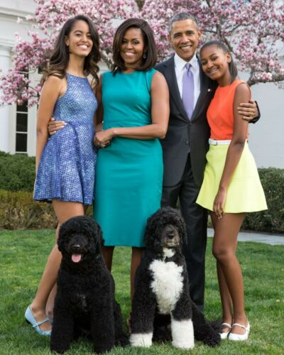 PRESIDENT BARACK OBAMA MICHELLE AND FAMILY 8X10 GLOSSY PHOTO PICTURE IMAGE #2