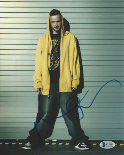 AARON PAUL SIGNED 'BREAKING BAD' JESSE PINKMAN 8x10 PHOTO BECKETT COA BAS