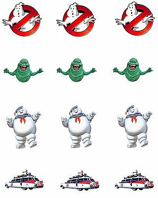 Ghostbusters Cupcake Toppers (Ghostbusters Edible Party Image Cupcake Topper Frosting Icing Sheet Circles)