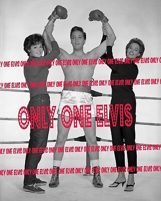 "ELVIS PRESLEY in the Movies 1962 8x10 Photo ""KID GALAHAD"" Joan Blackman UNSEEN"