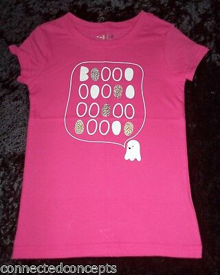 Cat & Jack Halloween Ghost Youth Girls T-shirt in Pink (SIZES: Small-XLarge) NEW - Ghost Girls