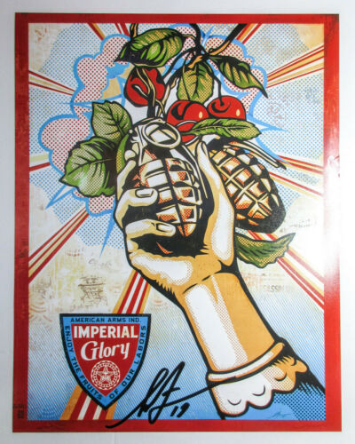 Shepard Fairey Signed Imperial Glory 11x14 Photo Print PROOF ACOA Obey Giant