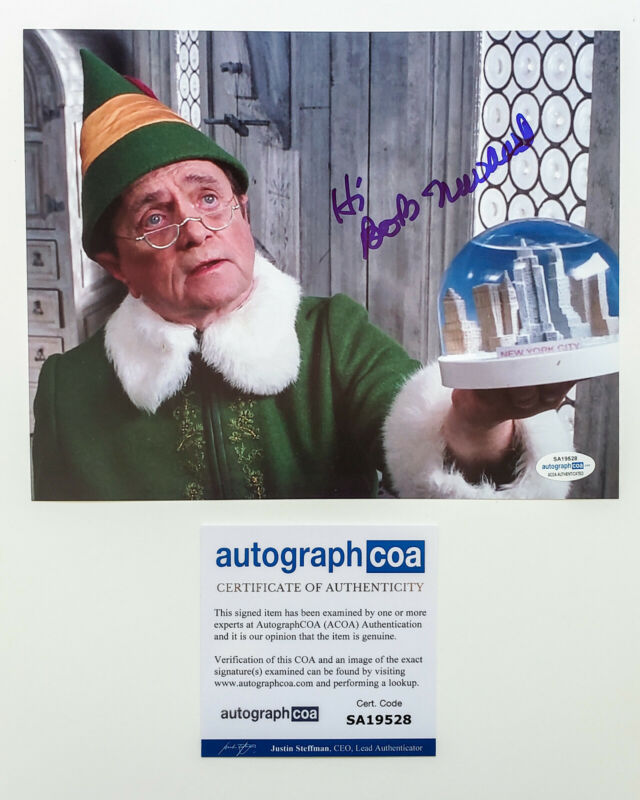 *PAPA ELF* Bob Newhart Signed ELF 8x10 Photo EXACT Proof ACOA Show Young Sheldon