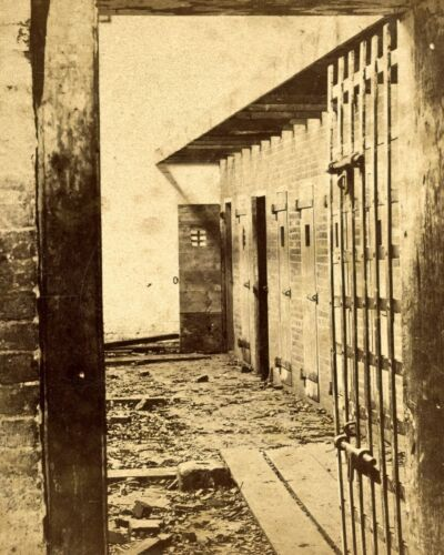 1870-Interior of Union Military Prison-Prior was Used as a Slave Pen-8x10 Photo