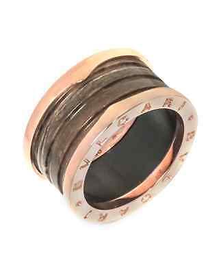 Bvlgari 18k Rose Gold B.zero 1 Ring AN856226 Size 6.75