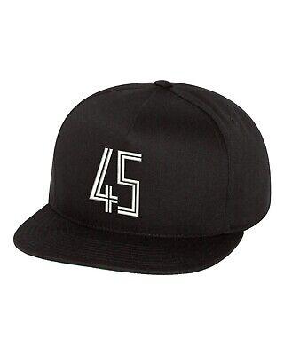 JORDAN 45 SNAPBACK HAT CUSTOM EMBROIDERED TO MATCH JORDAN 11 CONCORD NEW - BLACK Jordan Black Hat