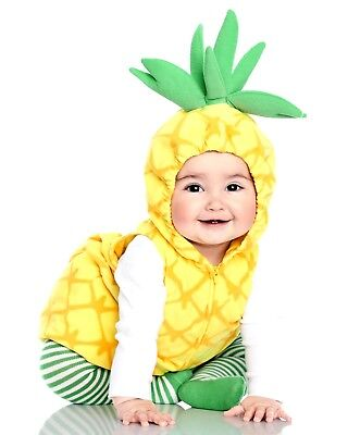 CARTER'S BABY GIRL 3PC PINEAPPLE PLUSH FLEECE HALLOWEEN COMPLETE COSTUME 6-9M](Pineapple Baby Costume)