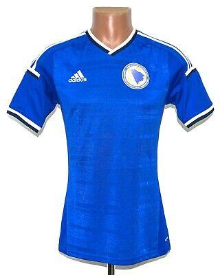 BOSNIA AND HERZEGOVINA 2014/2015 HOME FOOTBALL SHIRT JERSEY ADIDAS SIZE S ADULT image
