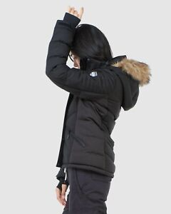 2021 Superdry Luxe Black Ski Snowboarding Jacket (Paid $449) Sz 10