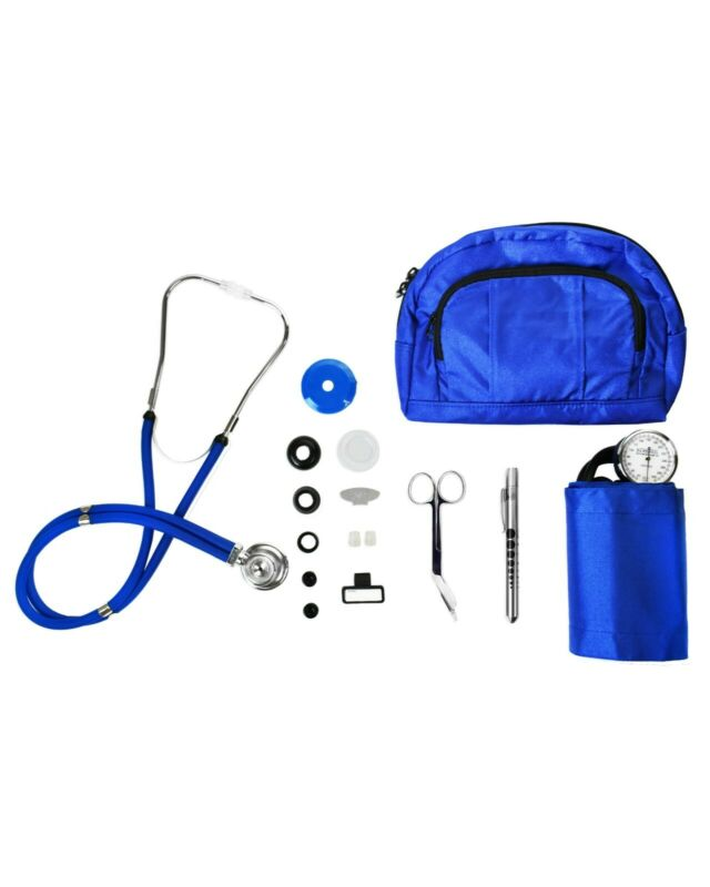 BV Medical Combo Kit: Royal Blue Fanny Pack W/Aneroid Sphygmomanometer and More