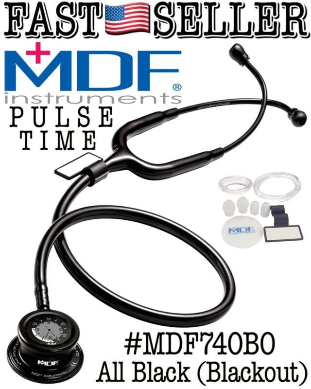 MDF Pulse Time 2in1 Single Head Stethoscope & Digital LCD Clock, Blackout - NEW!