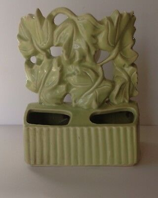 Vintage TV Lamp Pastel Green Ivy with Double Planter Nice MCM Home Decor