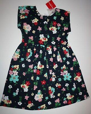 Neu Hanna Andersson Marineblau Blumenmuster Alltag Play Kleid Größe 140 oder 10 ()