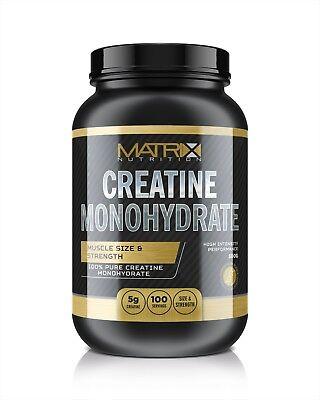 Hardcore Creatin Powder (MATRIX NUTRITION PURE HARDCORE CREATINE MONOHYDRATE POWDER - MUSCLE GROWTH 500G)