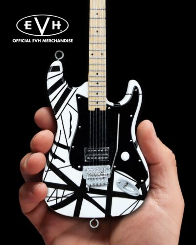 EVH Black and White VH1 Van Halen Collectible Mini Guitar