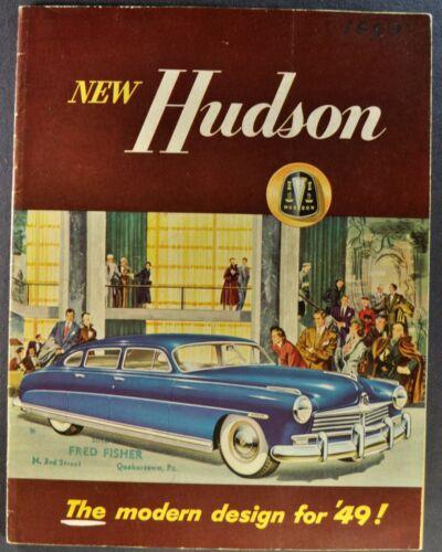 1949 Hudson 24pg Brochure Commodore Super 6 Sedan Convertible Coupe Original 49
