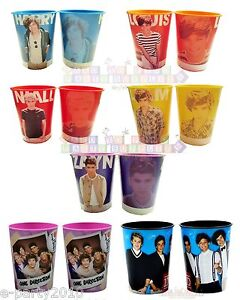 ONE DIRECTION Reusable KEEPSAKE CUPS ~ 1D Birthday Party Supplies