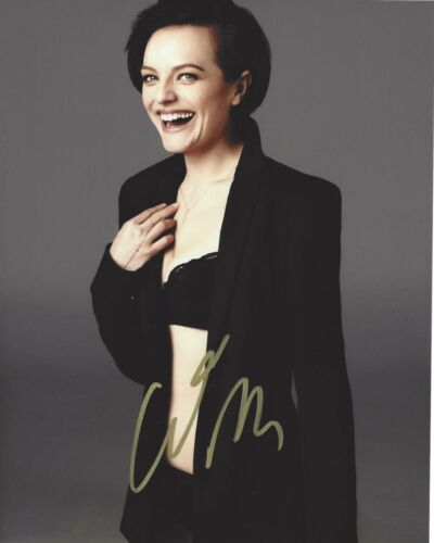 ACTRESS ELISABETH MOSS SIGNED 8X10 PHOTO W/COA ELISABETH WEST WING MAD MEN