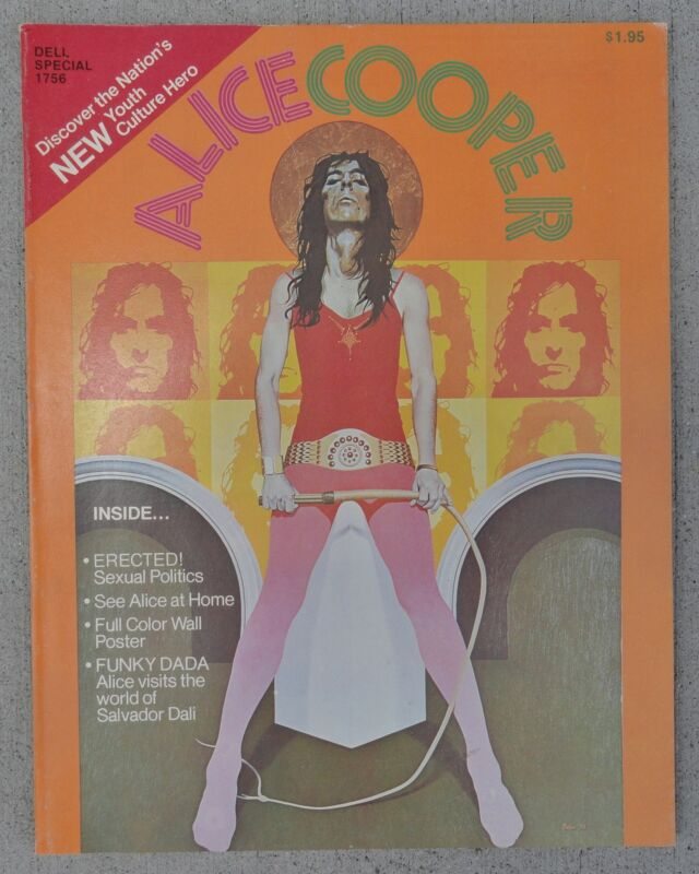 Alice Cooper 1972 Magazine 58 Pages W/ Pull-Out Snake Poster - MINT CONDITION