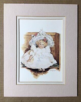 "Vintage 1991 Maud Humphrey Art Print ""Sarah"" in Church Portal Publications Ltd"