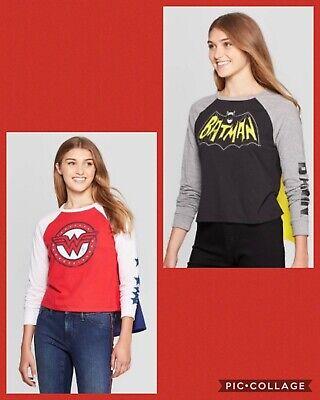 Womens Batman Shirt With Cape (SuperHero Wonder Woman, Batman t-shirt with cape NWT DC)
