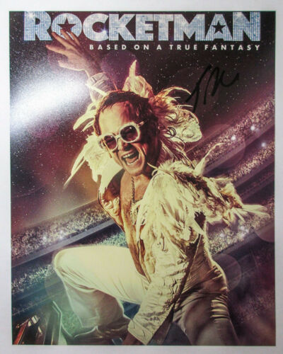 Taron Egerton Signed ROCKETMAN 8x10 Photo D EXACT Proof COA Kingsmen Elton John