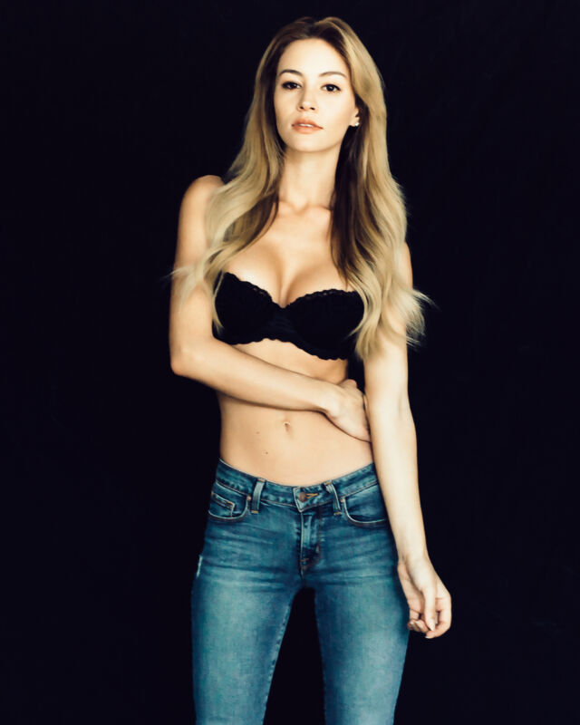 Bryana Holly Posing In Black Bra 8x10 Photo Print