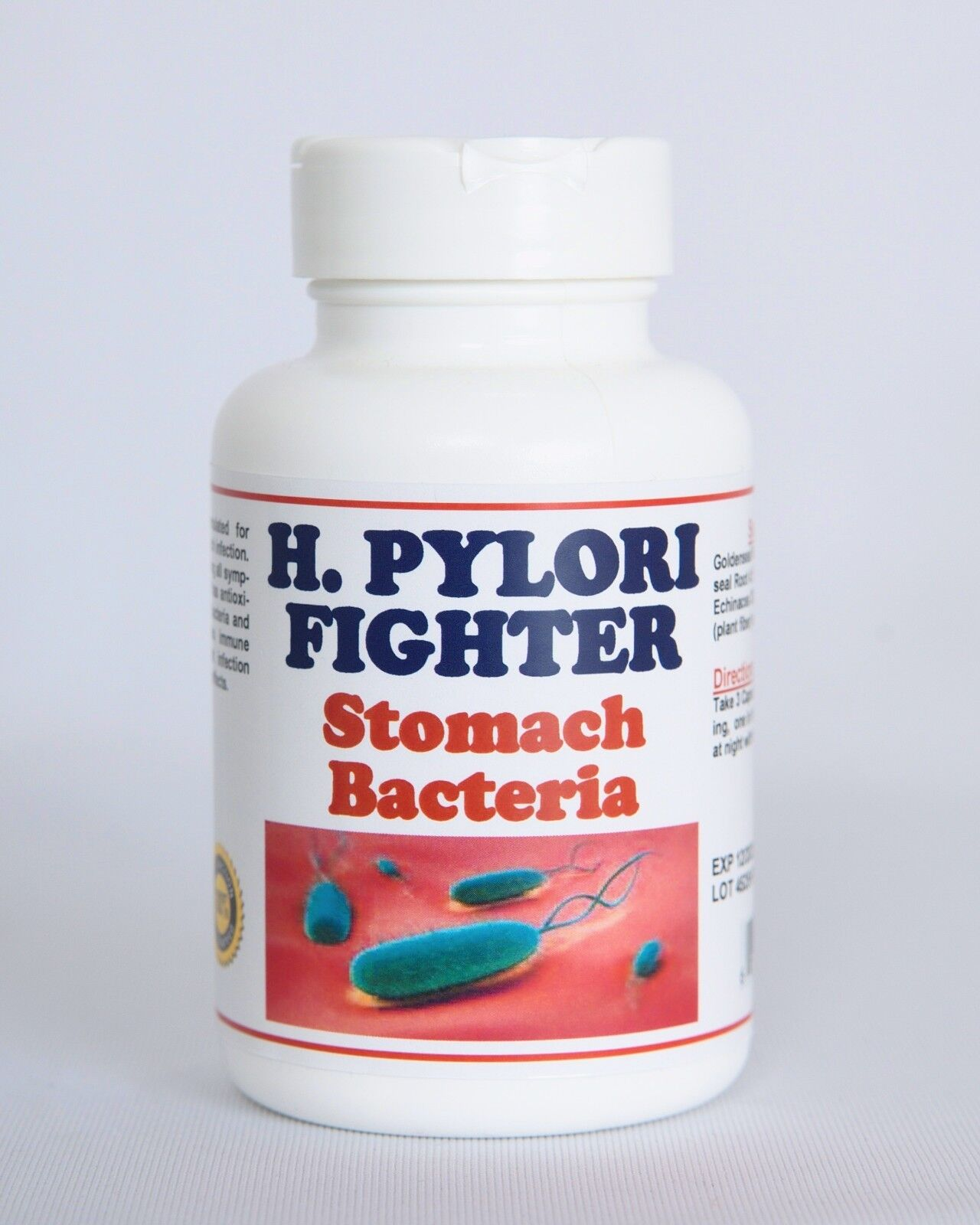 STOMACH BACTERIA - KILL THE BACTERIA H. PYLORI - One month Supply - Made in USA