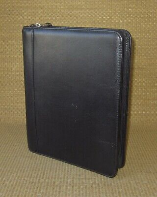 Classic Franklin Coveyquest Black Leather 1.5 Rings Zip Plannerbinder Usa