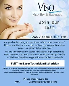 Part Time Laser Technician / Esthetician