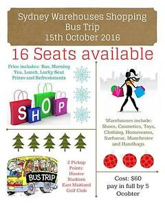 Warehouse shopping bus trip - $60 pp from hunter valley to Sydney East Maitland Maitland Area Preview
