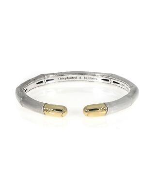 John Hardy Bamboo Silver & 18k White Gold Bracelet CZ5964BHXM