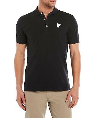 Versace Collection Men's Black Pique Medusa Polo T-shirt 2XL