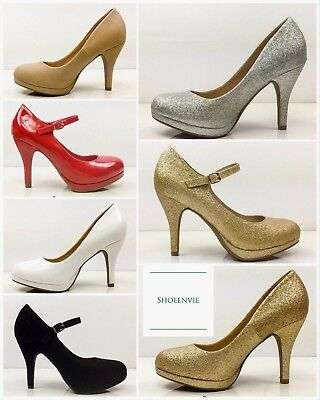 Platform Mary Jane Pumps (City Classified Dennis Jack  Platform Mary Jane High Heel Prom Party Dress Pump)