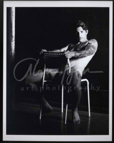 11x 8.5 Signed Original Art Male Photo (8) Joey leans back