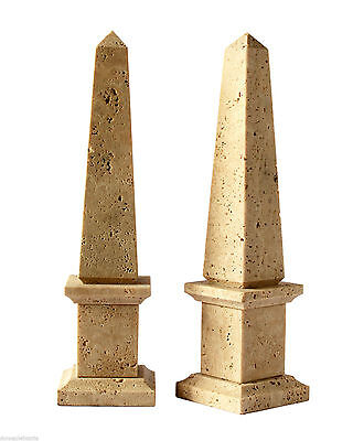 Obélisque en travertin Stone Old Classic Sculpture Home Design H40cm