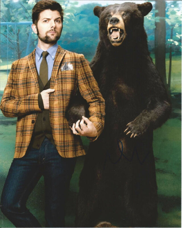ADAM SCOTT HAND SIGNED AUTHENTIC 'PARKS AND RECREATIONS' 8X10 PHOTO D w/COA