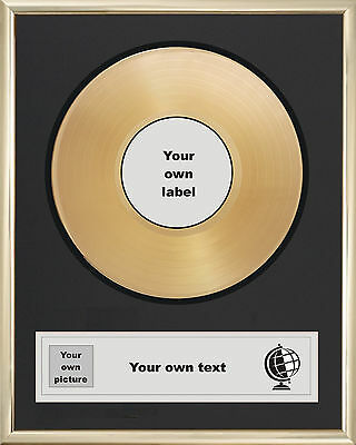 "YOUR OWN PERSONALISED 7"" GOLD DISC SINGLE RECORD AWARD PRESENTATION"