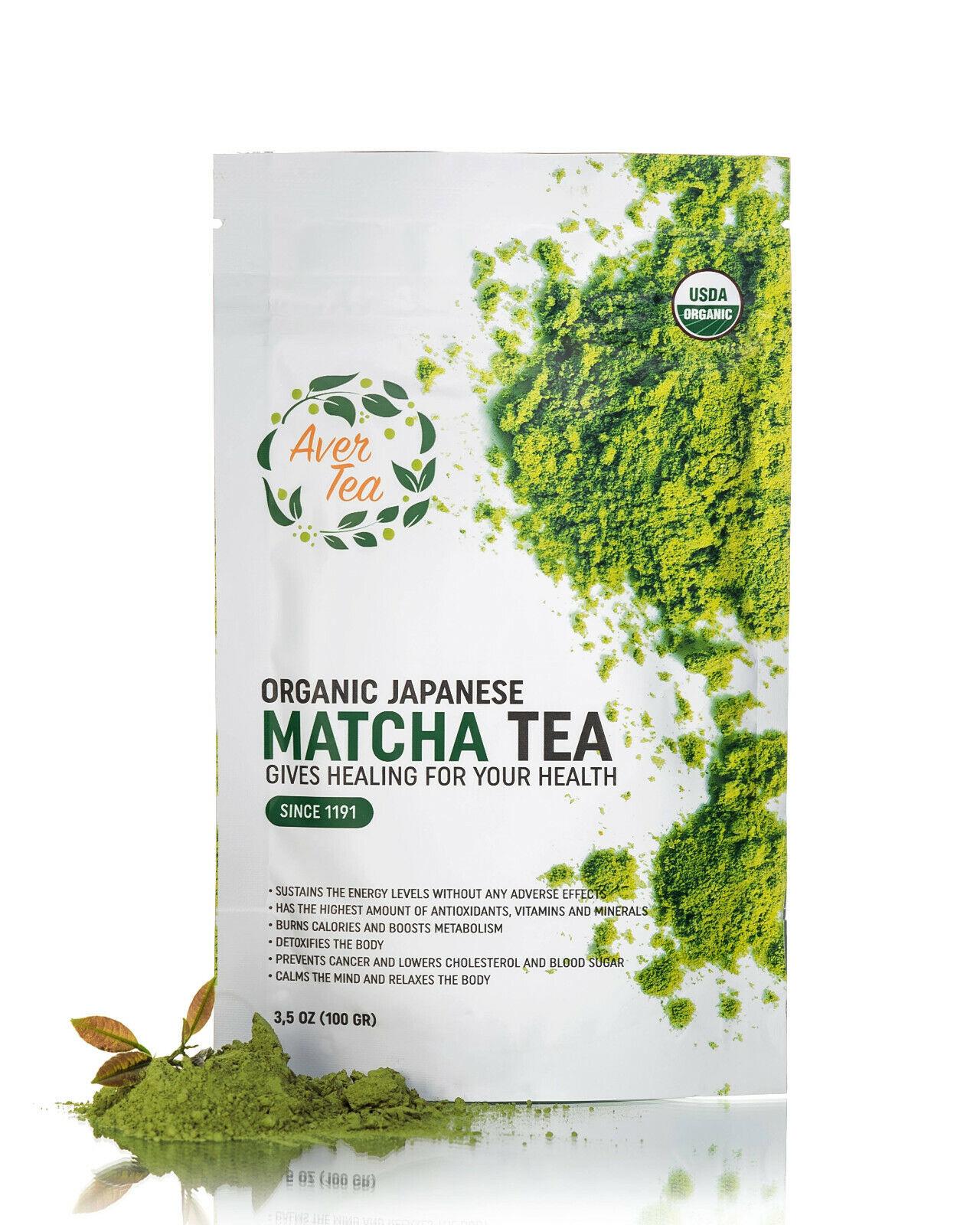 Aver Tea Organic Japanese Matcha Green Tea Powder Grade Deto