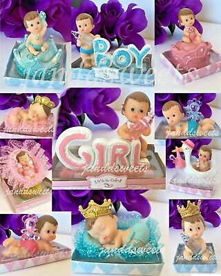 1-Baby Shower Girl Boy Cake Topper Decoration Party Favors Pink Blue Its a