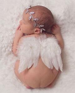Baby Photo Photography Props Girls boys Newborn Decor Angel Wings Leaf Headband